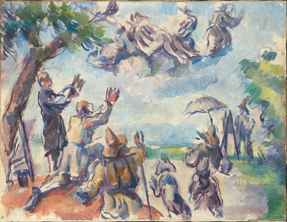 Paul Cézanne, Apotheose von / Apotheosis of Delacroix, 1890-4, Öl auf Leinwand / Oil on canvas, 27 x 35 cm, Paris, Musée d'Orsay, on loan to the Musée Granet / Aix-en-Provence (RF 1982-38) © RMN-Grand Palais (musée d'Orsay) / Hervé Lewandowski.