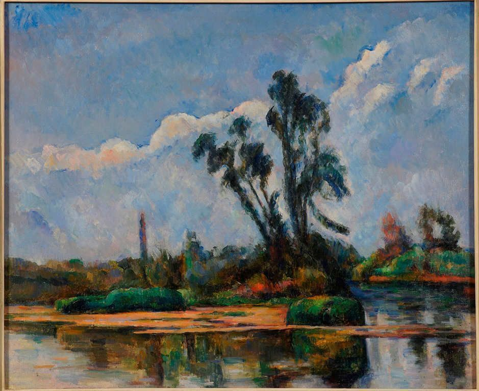 Paul Cézanne, Flusslandschaft / River Landscape, um/about 1881, Öl auf Leinwand / Oil on canvas, 56.5 x 65.4 cm, Privatsammlung / Private Collection © Minnesota Marine Art Museum, Winona, Minnesota.