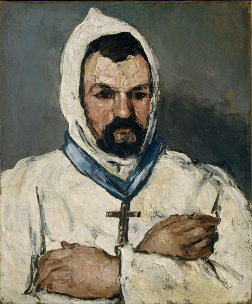 Paul Cézanne, Antoine Dominique Sauveur Aubert, der Onkel, als Mönch, 1866, Öl/Lw, 65.1 x 54.6 cm (The Metropolitan Museum of Art, New York, The Walter H. and Leonore Annenberg Collection, Gift of Walter H. and Leonore Annenberg, 1993, Bequest of Walter H. Annenberg, 2002, Inv.-Nr. 1993.400.1)