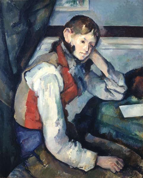 Paul Cézanne, Der Knabe mit der roten Weste, 1888/90, Öl/Lw, 79,5 x 64 cm (© Sammlung Emil Bührle, Zürich, Foto: SIK-ISEA, Zürich (J.-P. Kuhn)