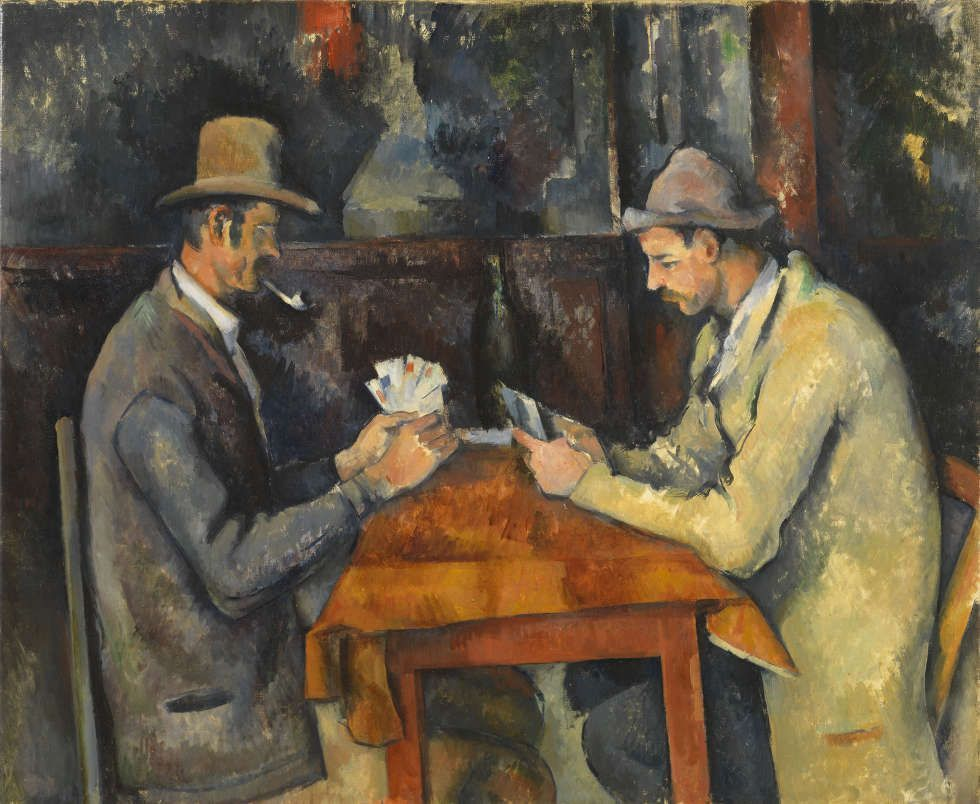 Paul Cézanne, Die Kartenspieler, um 1892–1896, Öl/Lw, 60 x 73 cm (The Courtauld Gallery (The Samuel Courtauld Trust, London)