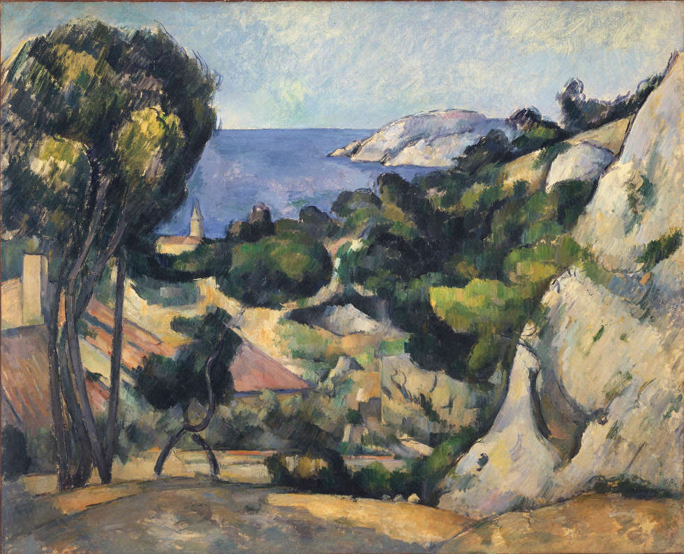 Paul Cézanne, L'Estaque, 1879–1883, Öl/Lw, 80,3 x 99,4 cm (The Museum of Modern Art, New York. The William S. Paley Collection, 1959. © 2019. Museum of Modern Art, New York/Scala, Florenz)