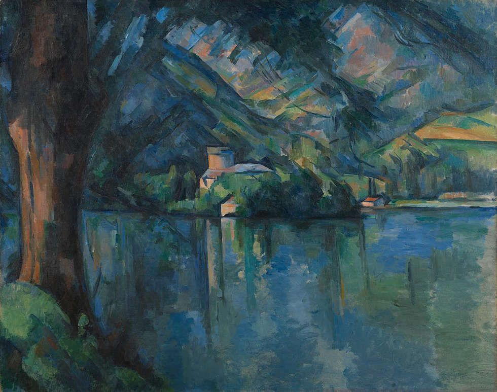 Paul Cézanne, Lac d'Annecy, 1896, Öl/Lw,65 × 81 cm (© The Samuel Courtauld Trust, The Courtauld Gallery, London)
