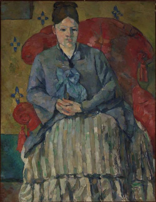 Paul Cézanne, Madame Cézanne im roten Ohrensessel, 1877, Öl/Lw, 72.4 x 55.9 cm (The Museum of Fine Arts, Boston)