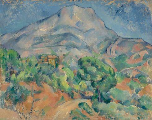 Paul Cezanne, Montagne St Victoire, um 1896-1898, Öl-Lw, 78,5 x 98,5 cm (Eremitage)