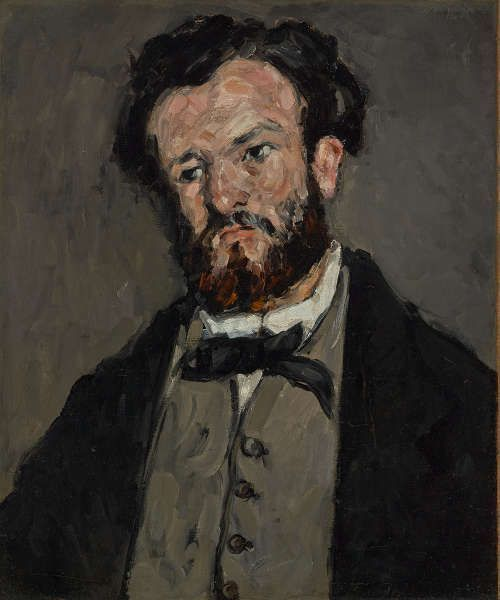 Paul Cézanne, Porträt Anthony Valabrègue, 1869–1871, Öl/Lw, 60 × 50.2 cm (The J. Paul Getty Museum, Los Angeles)