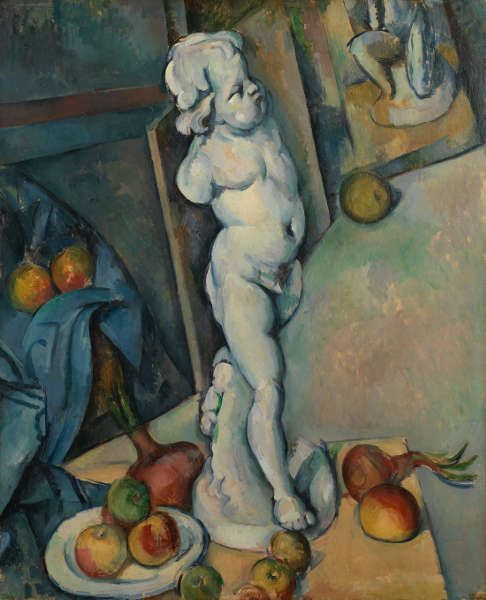 Paul Cézanne, Stillleben mit Gips-Cupido, um 1894, Öl/Holz, 70.6 × 57.3 cm (© The Samuel Courtauld Trust, The Courtauld Gallery, London)
