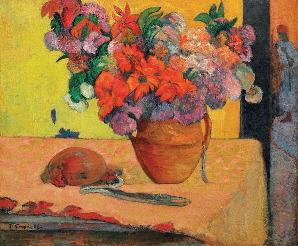 Paul Gauguin, Blumen in einer Vase, 1886-87 und 1893-95 (Privatsammlung)