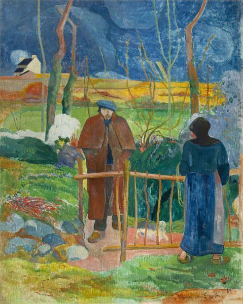 Paul Gauguin, Bonjour, Monsieur Gauguin, 1889, Öl auf Leinwand (Nationalgalerie Prag, Foto: © Nationalgalerie Prag)