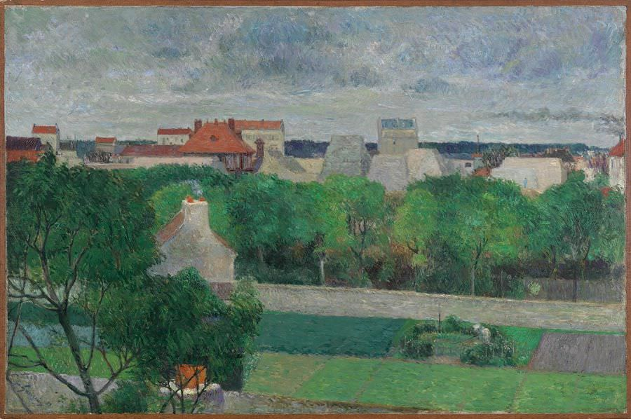 Paul Gauguin, Les maraîchers de Vaugirard [Die Gemüsegärten von Vaugirard], um 1879, Öl auf Leinwand, 65 x 100 cm (Smith College Museum of Art, Northampton, Massachusetts)