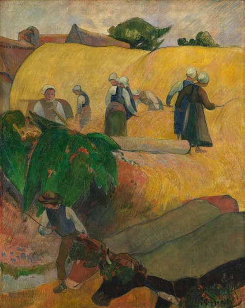 Paul Gauguin, Die Heuschober, 1889, Öl/Lw, 92 × 73.3 cm (© The Samuel Courtauld Trust, The Courtauld Gallery, London)