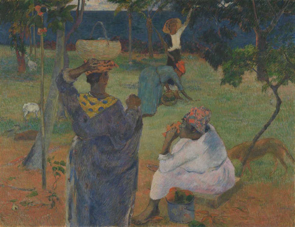 Paul Gauguin, Die Mangobäume, Martinique 1887, Öl/Lw, 86 cm x 116 cm (Van Gogh Museum, Amsterdam, Vincent van Gogh Foundation)