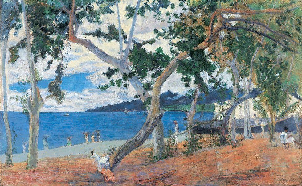 Paul Gauguin, Küstenlandschaft aus Martinique (Die Bay of Saint-Pierre, Martinique), 1887, Öl/Lw, 54 x 90 cm (Ny Carlsberg Glyptotek, Kopenhagen)