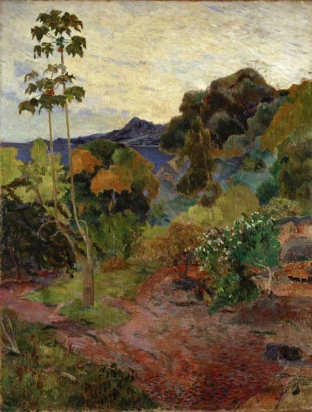 Paul Gauguin, Landschaft auf Martinique, 1887, Öl/Lw, 117 x 89,8 cm (National Gallery of Scotland, Edinbrugh,, presented by Sir Alexander Maitland in memory of his wife Rosalind 1960)