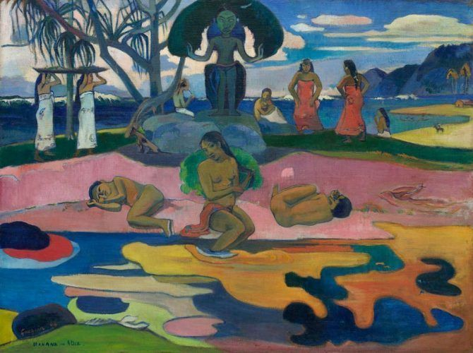 Paul Gauguin, Mahana no atua (Tag des Gottes), 1894 (The Art Institute of Chicago, Helen Birch Bartlett Memorial Collection)