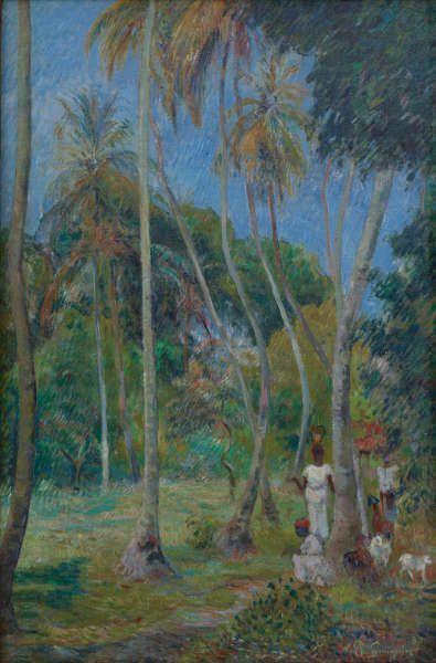 Paul Gauguin, Pfad unter Palmen, 1887, Öl/Lw, 90 × 60 cm (Privatsammlung)