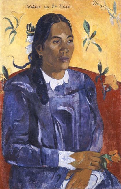 Paul Gauguin, Vahine no te Tiare [Frau mit Blume], 1891 (© Ny Carlsberg Glyptotek)