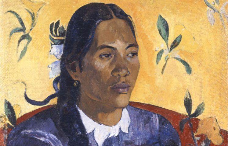 Paul Gauguin, Vahine no te Tiare [Frau mit Blume], Detail, 1891 (© Ny Carlsberg Glyptotek)