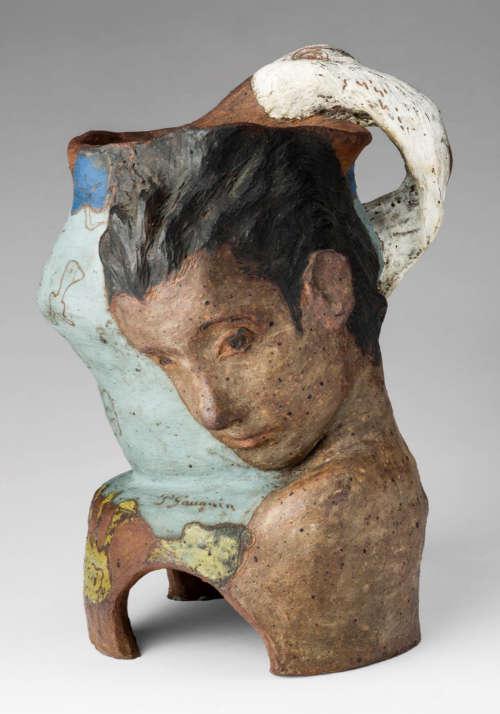 Paul Gauguin, Vase in der Form von Leda mit dem Schwan, 1887/88 (Privatsammlung)
