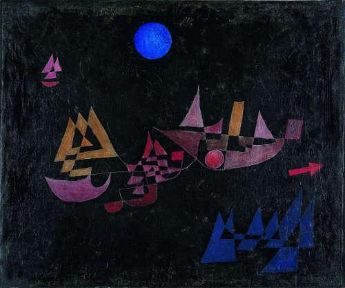 Paul Klee, Abfahrt der Schiffe, 1927, 140 (Zentrum Paul Klee, Bern, Leihgabe aus Privatbesitz)