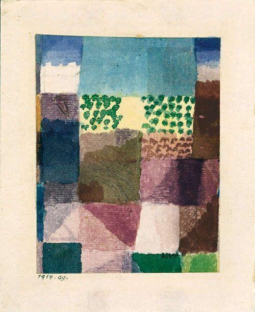Paul Klee, Abstraktion eines Motivs aus Hammamet, 1914 (Albertina, Dauerleihgabe Forberg)