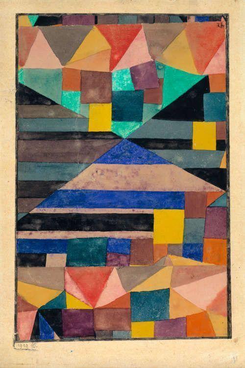 Paul Klee, Blauer Berg, 1919 (Berlin, Sammlung Berggrün)