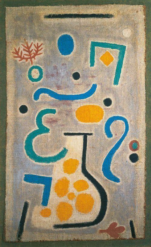 Paul Klee, Die Vase, 1938, 122, Öl auf Rupfen aufgelegt, 88 x 54,5 cm (Fondation Beyeler, Riehen/Basel, Sammlung Beyeler, Foto: Peter Schibli)