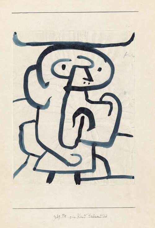 Paul Klee, Ein Kind träumt sich, 1939, 495 (Zentrum Paul Klee, Bern)
