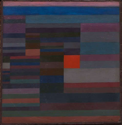 Paul Klee, Feuer abends, 1929, 95, Öl auf Karton, 34 x 35 cm (The Museum of Modern Art (MoMA), New York. Mr. and Mrs. Joachim Jean Aberbach Fund, 1970 © 2016. Digital image, The Museum of Modern Art, New York/Scala, Florence)