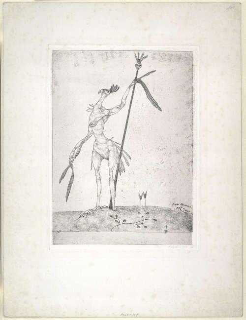 Paul Klee, Greiser Phoenix, 1905, 36, Radierung auf Zink (Albertina, Wien)