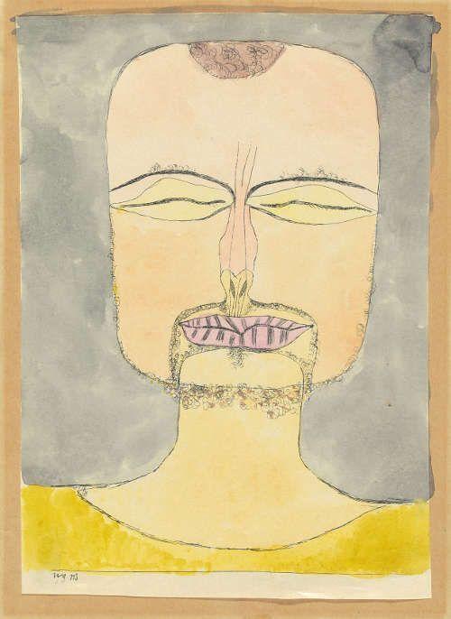 Paul Klee, Nach der Zeichnung 19/75, 1919, 113, Aquarellierte Lithographie, 22,2 x 16 cm (Zentrum Paul Klee, Bern, Schenkung Livia Klee © Zentrum Paul Klee, Bern, Bildarchiv)