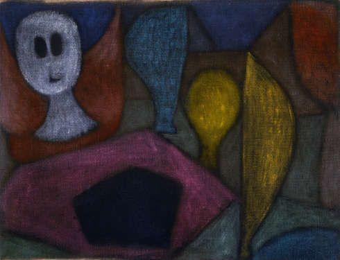 Paul Klee, Ohne Titel (Todesengel), um 1940, Öl auf Leinwand, rückseitig Kleistergrundierung, auf Keilrahmen, 51 x 66,4 cm (Privatbesitz, Schweiz, Depositum im Zentrum Paul Klee, Bern © Zentrum Paul Klee, Bern, Bildarchiv)