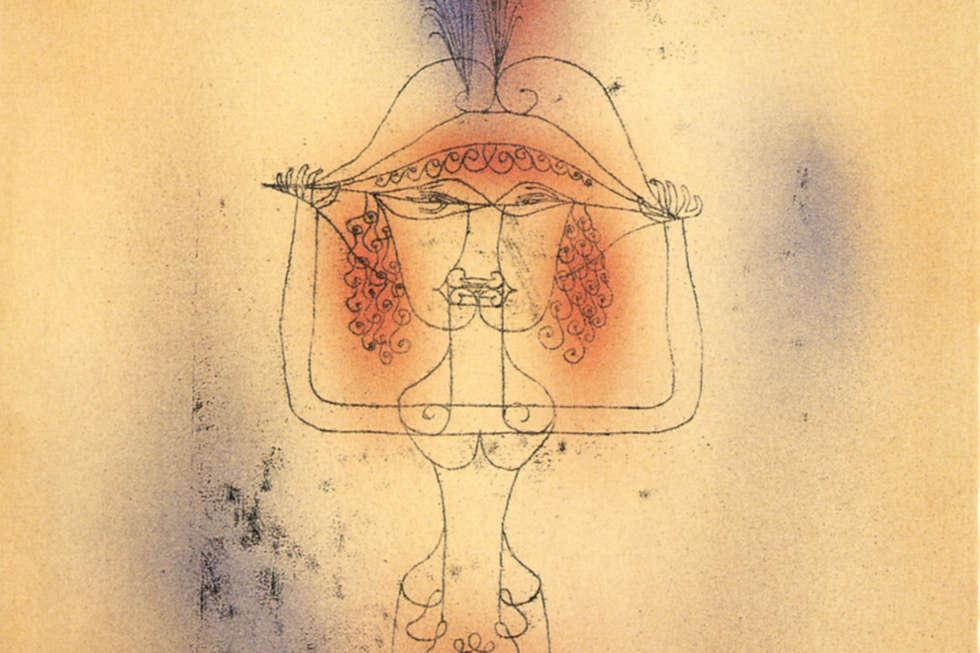 Paul Klee, Sängerin der Komischen Oper, Detail, 1925, 225 (W 5). Lithografie, 41,5 × 28,5 cm (Museum Ulm, Foto Oleg Kuchar, Ulm)