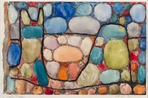 Paul Klee, Schatz über Tag, 1935, 46, Aquarell und Gouache auf Papier auf Karton, 17,9 x 27,8 cm (Privatsammlung)