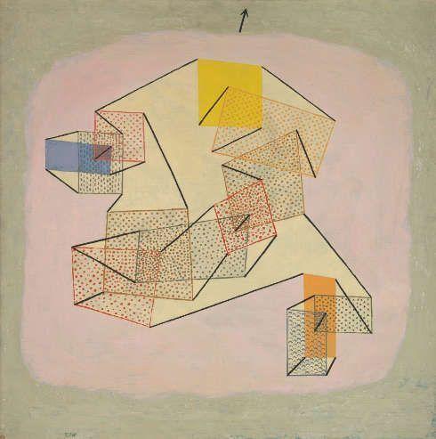 Paul Klee, Schwebendes, 1930, Öl auf Leinwand auf Keilrahmen; originale Rahmenleisten, 84 x 84 cm (Zentrum Paul Klee, Bern © Zentrum Paul Klee, Bern, Bildarchiv)