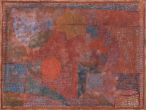 Paul Klee, Verwittertes Mosaik, 1933, Aquarell und Gouache auf japanischem Ingrespapier, auf Karton, 35,6 x 46,7 cm (Norton Simon Museum, Pasadena, The Blue Four Galka Scheyer Collection © Norton Simon Museum, Pasadena)