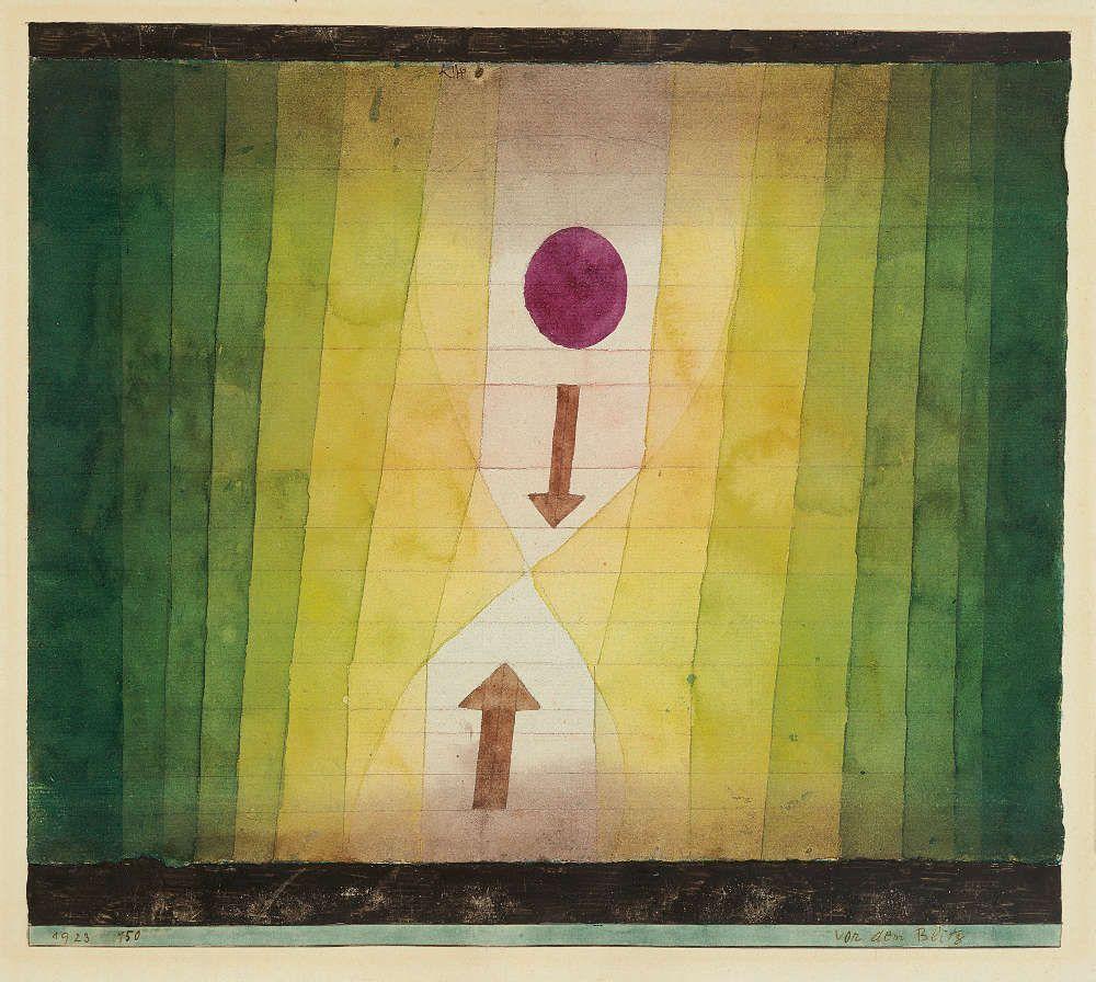 Paul Klee, Vor dem Blitz, 1923, 150, Aquarell und Bleistift auf Papier, 28 x 31,5 cm (Fondation Beyeler, Riehen/Basel, Sammlung Beyeler, Foto: Peter Schibli)