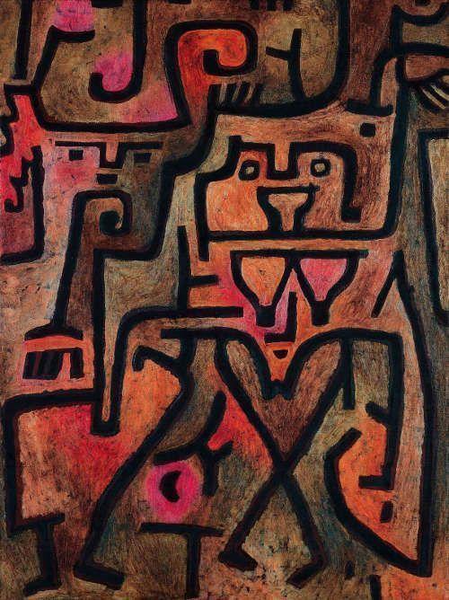 Paul Klee, Wald-Hexen, 1938, 145 (K5), Öl auf Papier auf Jute, 99 x 74 cm (Fondation Beyeler, Riehen/Basel, Foto: Robert Bayer, Basel)