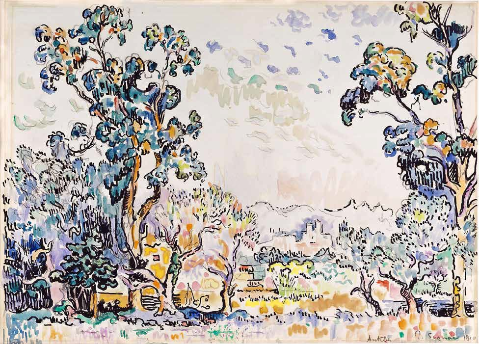 Paul Signac, Antibes, 1910, Aquarell, Tusche, 32 x 44,2 cm (Privatsammlung)