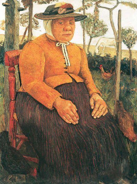 Paula Modersohn-Becker, Alte Armenhäuslerin, um 1905 (Von der Heydt-Museum Wuppertal)
