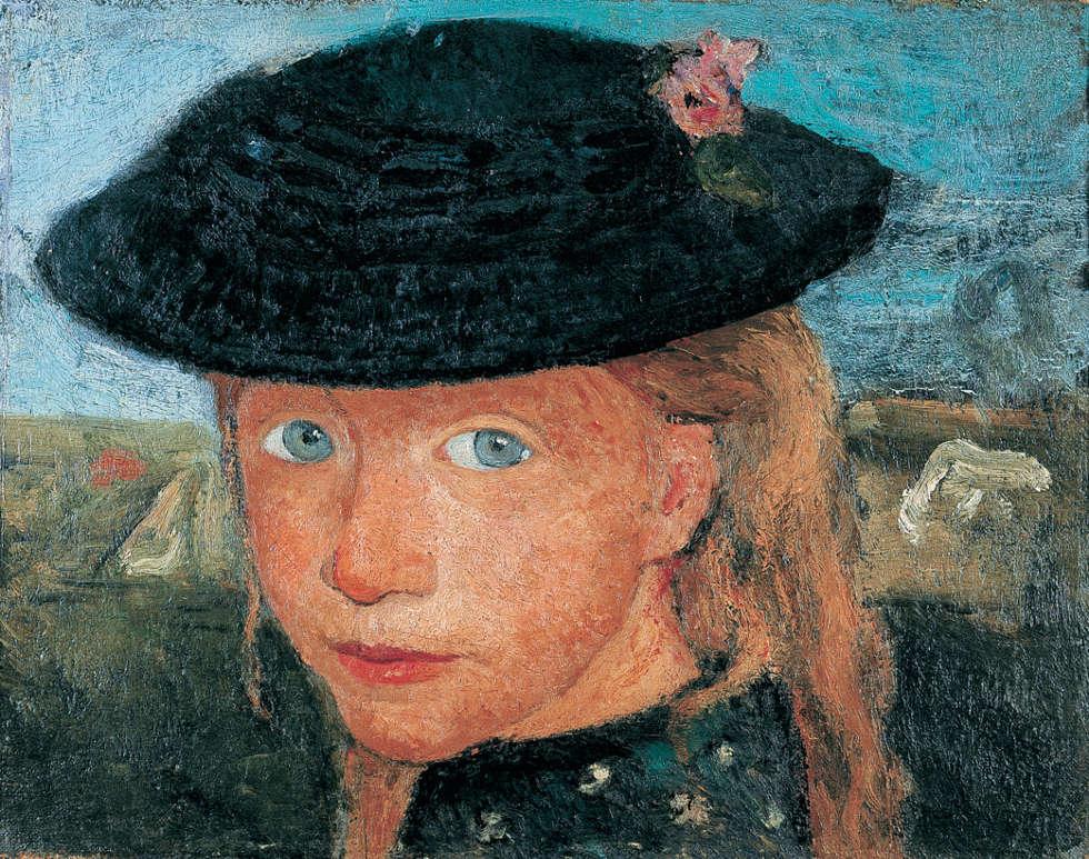 Paula Modersohn-Becker, Kopf eines blonden Mädchens mit Strohhut, um 1904 (Kunst- und Museumsverein Wuppertal)