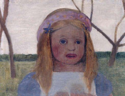 Paula Modersohn-Becker, Mädchen mit Blütenkranz im Haar, um 1901 (© Staatliche Museen zu Berlin, Nationalgalerie / Jörg P. Anders)