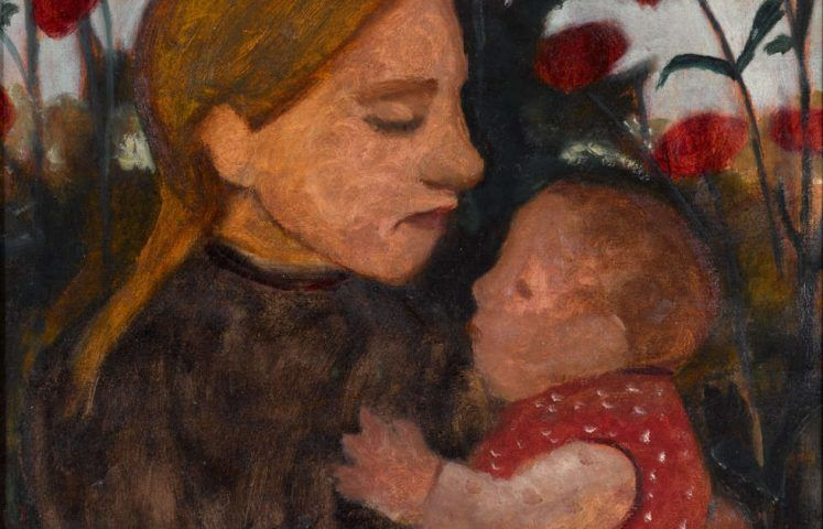 Paula Modersohn-Becker, Mädchen mit Kind, Detail, 1902, Öl/Karton, 45.3 x 50.5 cm (Kunstmuseum Den Haag)