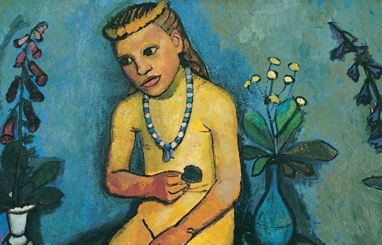 Paula Modersohn-Becker, Mädchenakt mit Blumenvase, Detail, um 1907 (Von der Heydt-Museum Wuppertal)