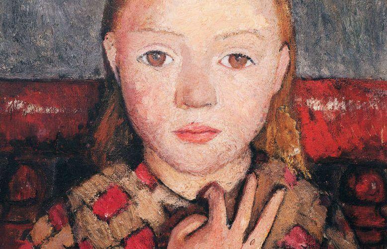 Paula Modersohn-Becker, Mädchenbildnis mit gespreizter Hand vor der Brust, Detail, um 1905 (© Von-der-Heydt-Museum, Wuppertal)