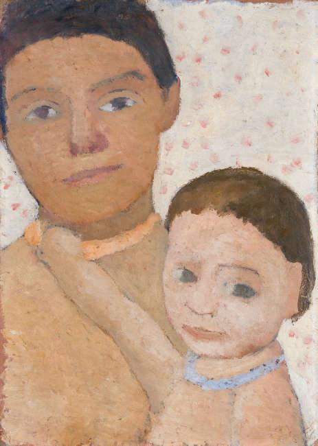 Paula Modersohn-Becker, Mutter mit Kind, 1906 (Leihgabe aus Privatbesitz, Foto Paula-Modersohn-Becker-Stiftung)