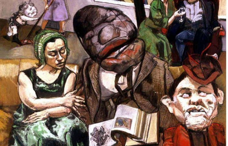Paula Rego, The fisherman, Detail, 2005, Pastell auf Holz, 180 x 120 cm (© Collection of the Artist)