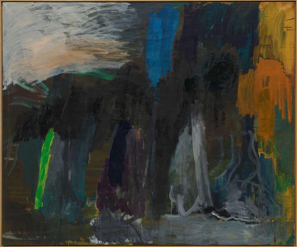Per Kirkeby, Ohne Titel, 1986, Öl/Lw, 200 x 240 cm (PK 435/01, © Per Kirkeby, Courtesy Galerie Michael Werner Märkisch Wilmersdorf, Köln & New York), Foto: Jörg von Bruchhausen