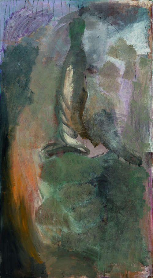 Per Kirkeby Summer Storm, 1986, Öl auf Leinwand, 200 x 110 cm (Courtesy Tobias Pils Foto: Kunsthalle Krems / Jorit Aust)