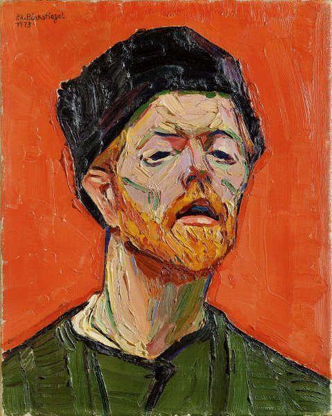 Peter August Böckstiegel, Selbstbildnis, 1913, Öl auf Leinwand, 48 x 38,5 cm (© Peter-August-Böckstiegel-Stiftung, Werther)